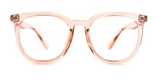 0567 Una Oval orange glasses