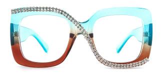 10690 Infinity Rectangle blue glasses
