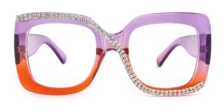 10690 Infinity Rectangle purple glasses