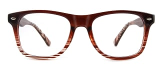 123 Amiel Rectangle brown glasses