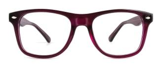 123 Amiel Rectangle purple glasses