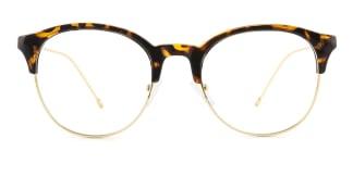 12354 Ibernia Round tortoiseshell glasses