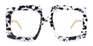12365 Vivien Rectangle white glasses
