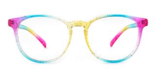 14011 Olive Round multicolor glasses