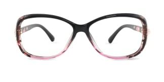 1496 Mavis Rectangle black glasses