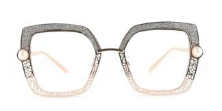 15472 Xela Rectangle grey glasses