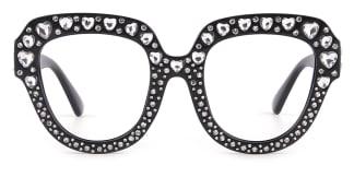 1556 Allegra Rectangle, black glasses