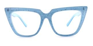 15762 Elizabeth Cateye blue glasses