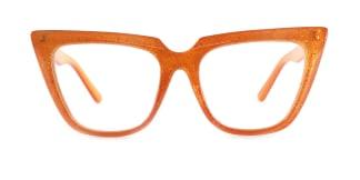 15762 Elizabeth Cateye orange glasses