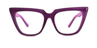 15762 Elizabeth Cateye purple glasses