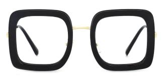 1745 Abiba Rectangle black glasses