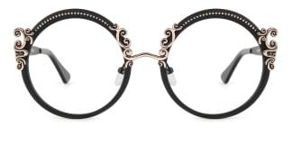 18028 Aphrodite Round black glasses