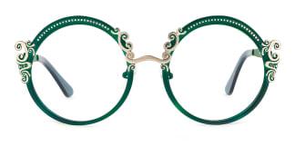 18028 Aphrodite Round green glasses