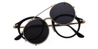 1813 Idana Aviator black glasses