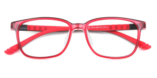 18131 Jonathon Rectangle red glasses