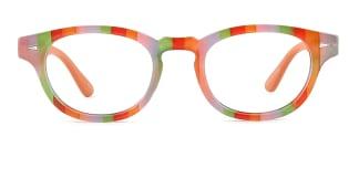 185110 jessie Oval orange glasses
