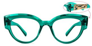 19034 Rene Cateye green glasses