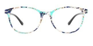 1905 karida Oval green glasses
