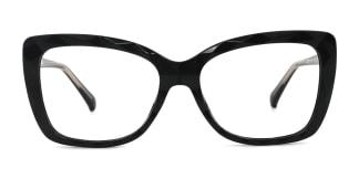 2009 Tacy Rectangle black glasses