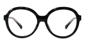 2010 Mahalia Round black glasses