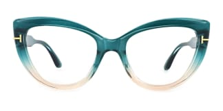 20181 Kay Cateye green glasses