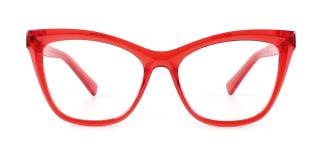 20213 Trish Cateye red glasses