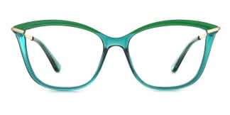 2036 Angelo Cateye green glasses