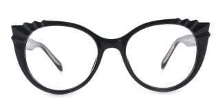 2037 Shana Cateye black glasses