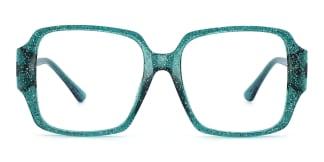 2053 Chelsea Rectangle green glasses