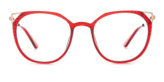 2054 Amory Cateye red glasses