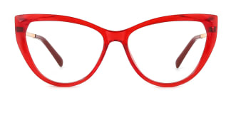 2062 Amarante Cateye red glasses