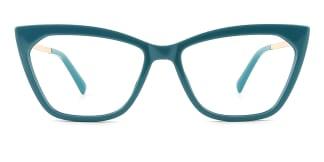 2064 hellen Cateye green glasses