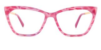 2064 hellen Cateye pink glasses