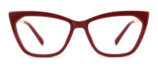 2064 hellen Cateye red glasses