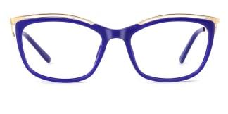 2071 Amaya Cateye blue glasses
