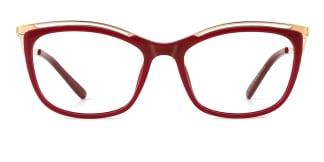 2071 Amaya Cateye red glasses