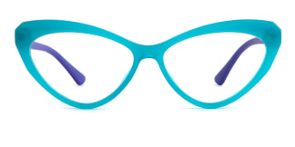 20751 Antoine Cateye green glasses