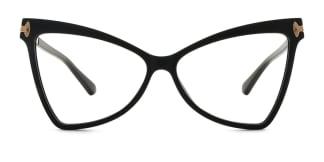 2077 Arleen Butterfly black glasses