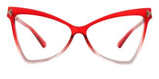 2077 Arleen Butterfly red glasses