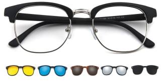 2218A Hernando Rectangle black glasses