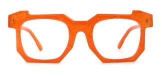 2236-1 Eve Geometric orange glasses