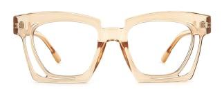 2237 Dalia Rectangle brown glasses