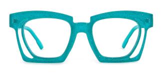 2237 Dalia Rectangle green glasses