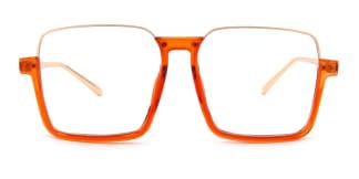 24011 Yehudi Rectangle orange glasses