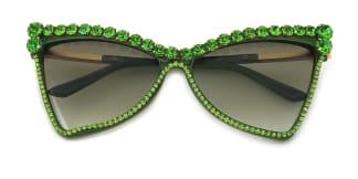 2463 Elvia Cateye green glasses