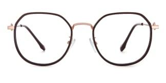 2478 Angelita Geometric brown glasses