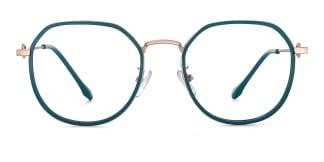 2478 Angelita Geometric green glasses