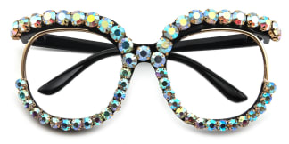 25432 Gerline Oval black glasses