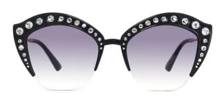 2764 Vijaya Cateye black glasses