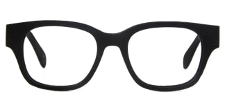 3018 Nunn Rectangle black glasses